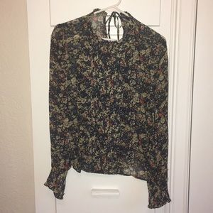 Zara floral blouse